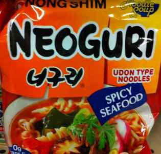 Packaged Neoguri Noodles - Seafood flavor