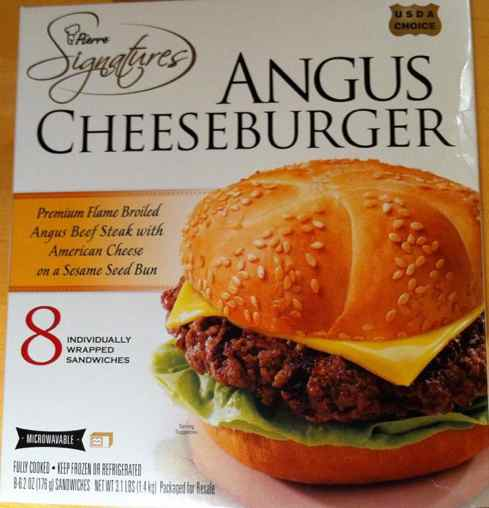 Box of Pierre Signatures Angus Burgers