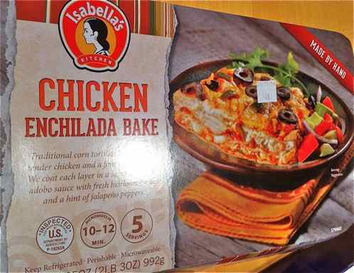 Box of Isabella's Kitchen Chicken Enchilada Bake
