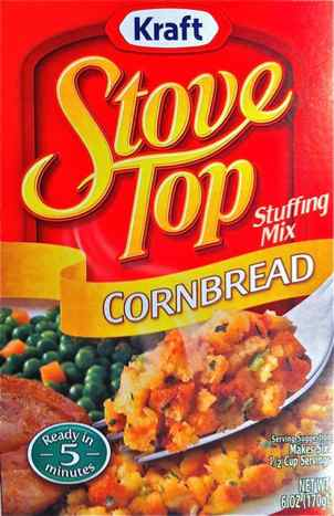 Box of Kraft StoveTop Stuffing Mix