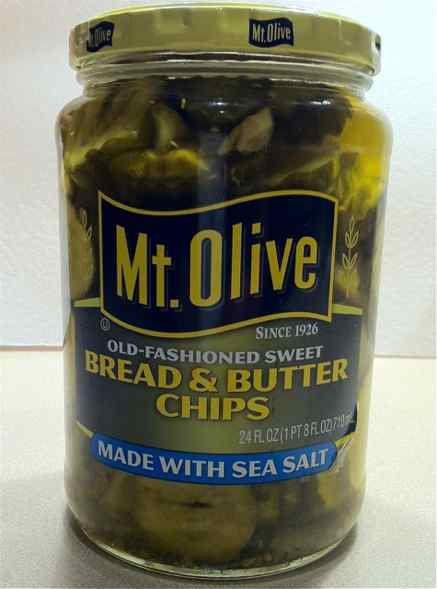 Jar of Mt Olive Sweet Pickles