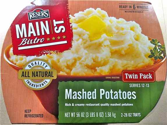 Box of Reser's Mashed Potatoes