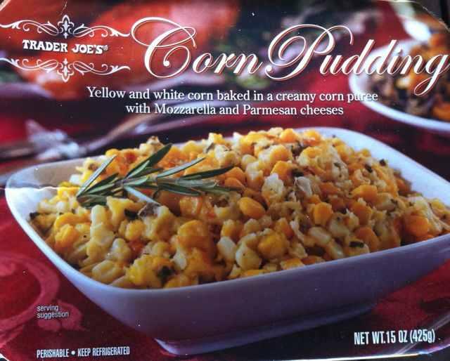 Box of Trader Joe's Corn Pudding