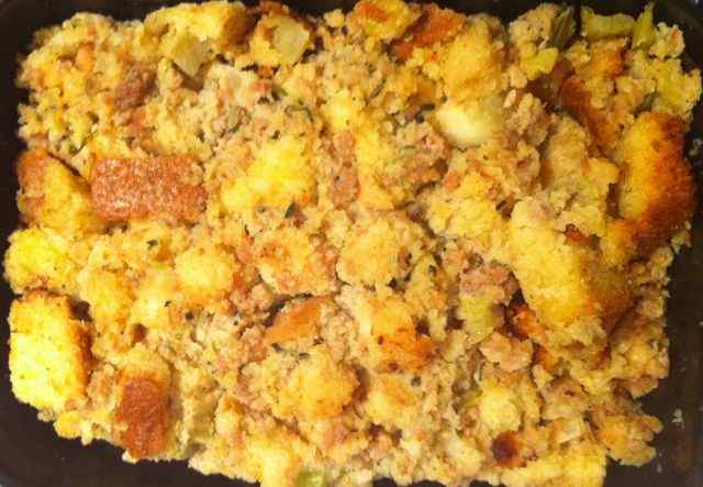 Trader Joe's Chicken Sausage & Cornbread Stuffing
