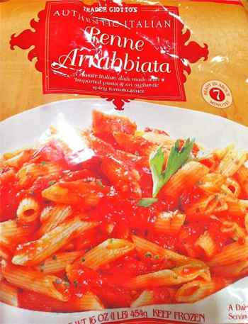 Bag of Trader Joe's Penne Arrabbiata