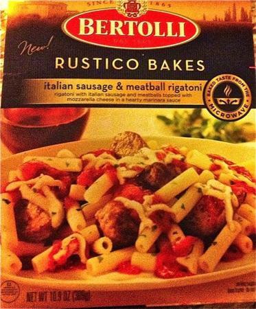 Box of Bertolli Italian Sausage & Meatball Rigatoni