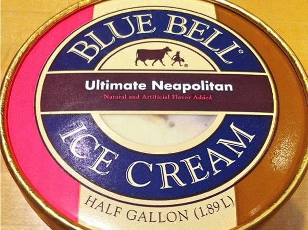 Blue Bell Utlimate Neopolitan Ice Cream
