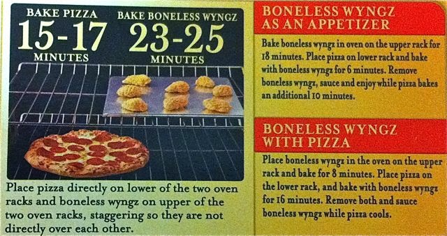 Review Digiorno Pizza Boneless Wyngz Three Meat Pizza Honey