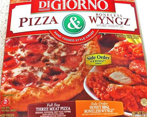 Box of Three Meat DiGiorno Pizza & Wyngz