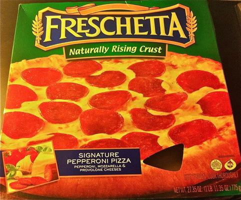 Box of Freschetta Pepperoni Pizza