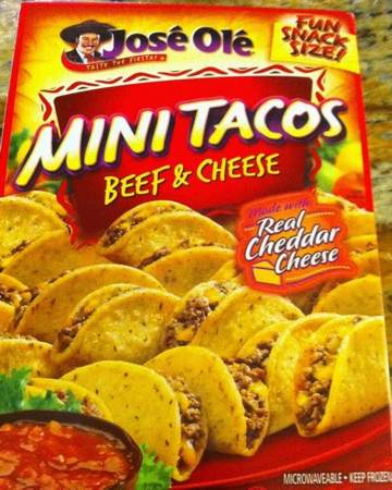 Box of Jose Ole: Frozen Beef & Cheese Mini Tacos