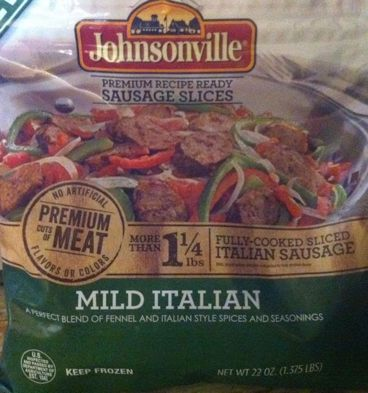 Bag of Johnsonville Fully-Cooked Mild Italian Sausage Slices