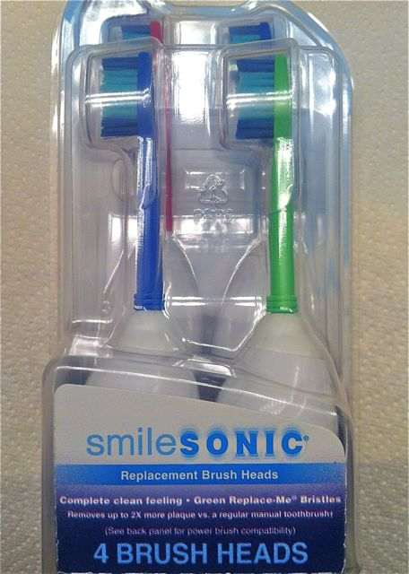 Box of SmileSonic toothbrush heads