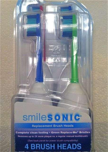Box of SmileSonic toothbrush heads