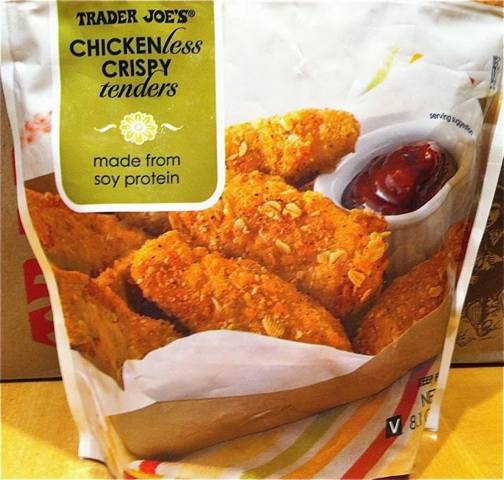 Bag of Trader Joe's Chickenless Crispy Tenders