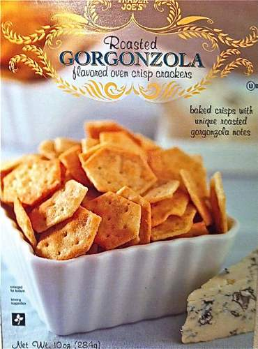 Box of Trader Joe's Gorgonzola Crackers