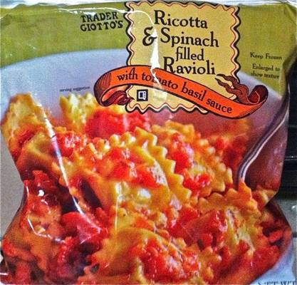 Bag of Ricotta & Spinach Ravioli from Trader Joe's