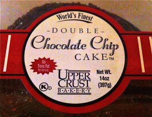 Upper Crust Bakery Double Chocolate Chip Chocolate Cake