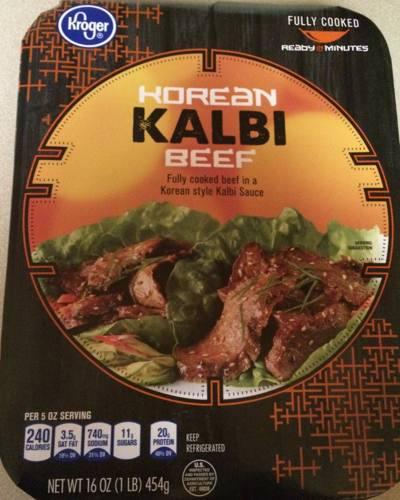 Box of Fry's / Kroger Korean Kalbi Beef