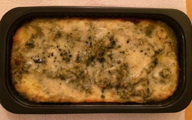 Isabella's Kitchen Chile Verde Chicken Enchilada Cooked