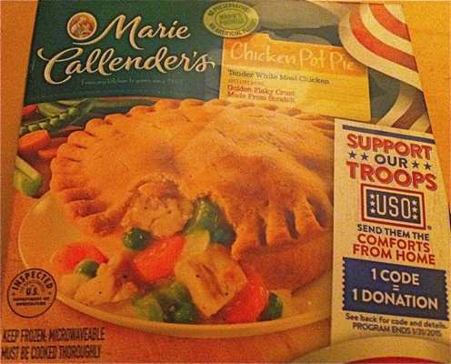 Box of Marie Callender's Chicken Pot Pie