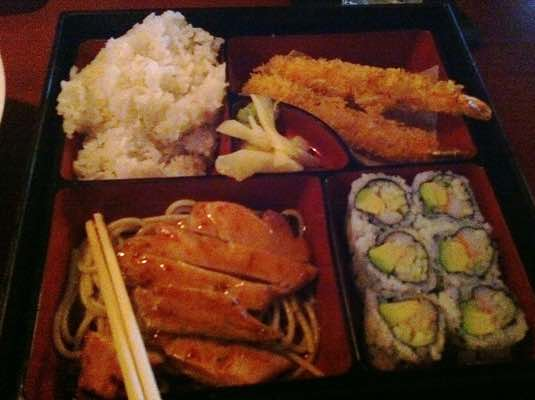 Chicken Teriyaki & Shrimp Tempura Bento Box from Soho Japanese Bistro