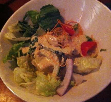 House salad from Soho Japanese Bistro