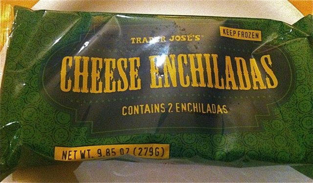 Package of Trader Jose's Cheese Enchiladas from Trader Joe's