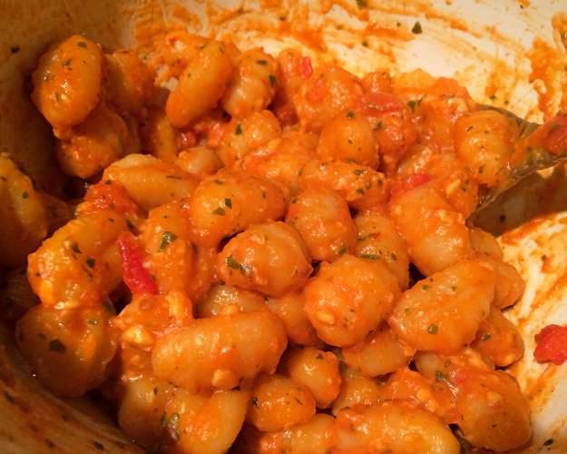 Trader Giotto's Gnocchi alla Sorrentina cooked