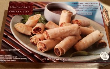 Box of Lemongrass Chicken Stix from Trader Joe's