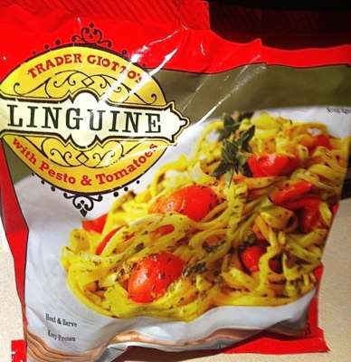 Bag of Trader Joe's / Giotto's Linguine with Pesto & Tomatoes