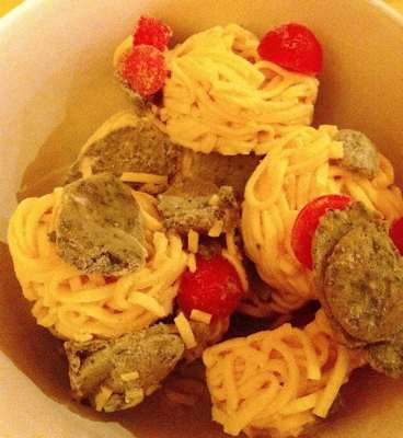Trader Joe's / Giotto's Linguine with Pesto & Tomatoes Components
