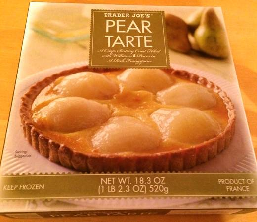 Box of Frozen Trader Joe's Pear Tarte