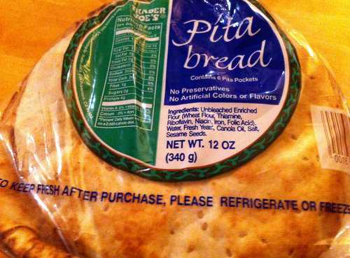 Bag of Trader Joe's Pita Bread