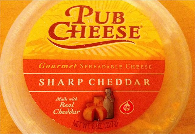 Tub of Pub Cheese from Trader Joe's