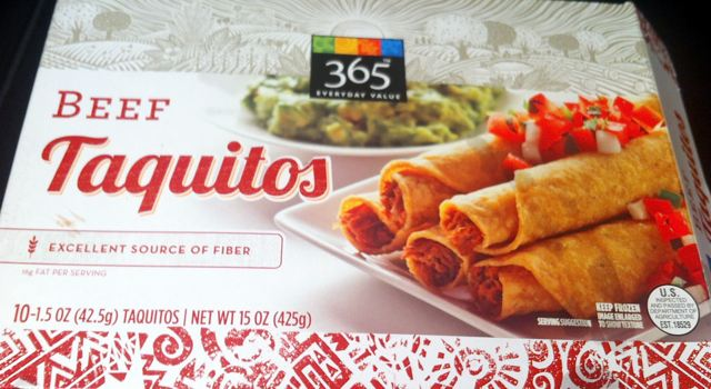 Box of 365 Everyday Value Beef Taquitos from Whole Foods