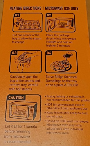 According To The Instructions Only Way You Should Cook Them Is Using Microwave Dumplings Came In A Little Tray That Gets Microwaved For Two