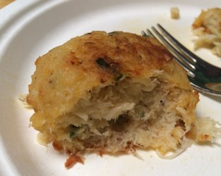 Handy Maryland Style Crab Cake on a plate
