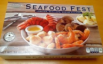 Box of J. Scott's Seafood Fest from Costco