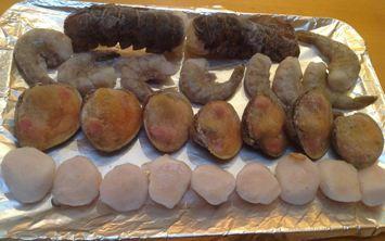 J.Scott's Seafood Fest frozen on tray