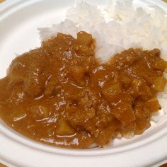 Plate of Maya Kaimal Lamb Vindaloo with rice