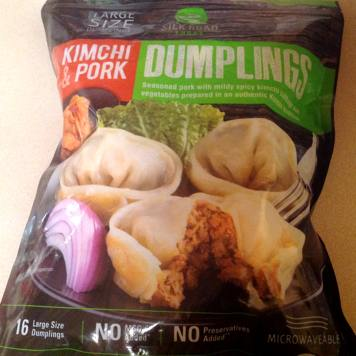 Bag of Silk Road Foods Kimchi & Pork Dumplings from Costco