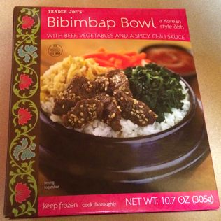 Box of Trader Joe's Bibimbap Bowl