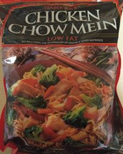 Bag of Trader Joe's Frozen Low Fat Chicken Chow Mein