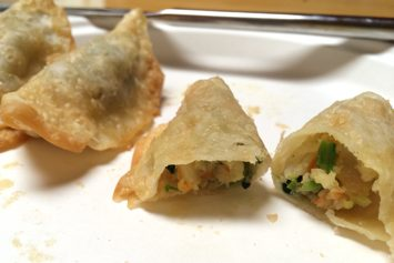 Crispy Green Curry Shrimp Gyoza from Trader Joe's