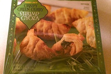 Box of Trader Joe's Crispy Green Curry Shrimp Gyoza