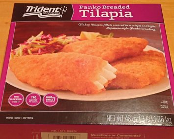 Box of Trident Seafood''s Panko Breaded Tilapia