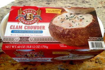 Box of Boudin Clam Chowder from Costco